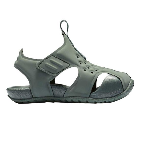 f4a51dc05 Nike Sunray Protect 2 Toddlers Sandals Green   Grey US 2