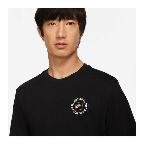 Nike Mens Sportswear Just Do It LBR Tee, Black, rebel_hi-res