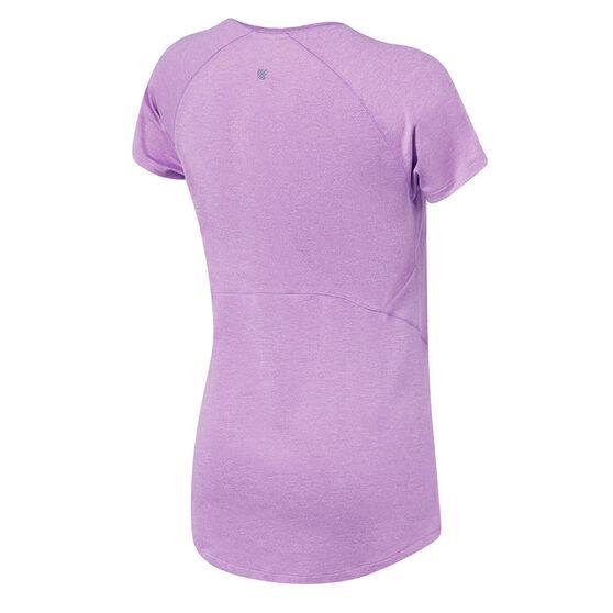 Ell & Voo Womens Sophie Workout Tee, Purple, rebel_hi-res
