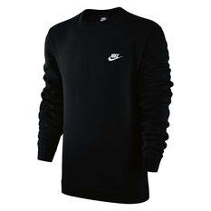 Nike Mens Sportswear Crewneck Black / White S, Black / White, rebel_hi-res