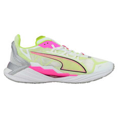 Puma UltraRide Womens Running Shoes, White/Yellow, rebel_hi-res