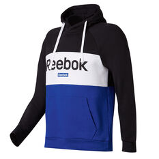 Reebok Mens Training Essentials Linear Logo Hoodie Black S, Black, rebel_hi-res