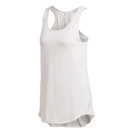 adidas Karlie Kloss Womens Long Tank, White, rebel_hi-res