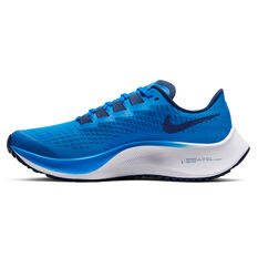 Nike Air Zoom Pegasus 37 Kids Running Shoes Blue / White US 1, Blue / White, rebel_hi-res