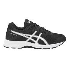 Asics Gel Galaxy 9 Kids Running Shoes Black / White US 1, Black / White, rebel_hi-res