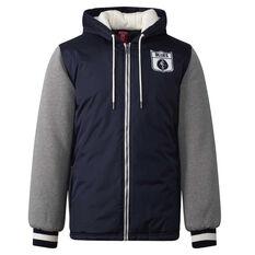 Carlton Blues Mens Sideline Jacket Blue S, Blue, rebel_hi-res