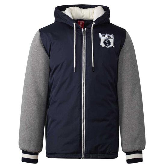 Carlton Blues Mens Sideline Jacket Blue L, Blue, rebel_hi-res