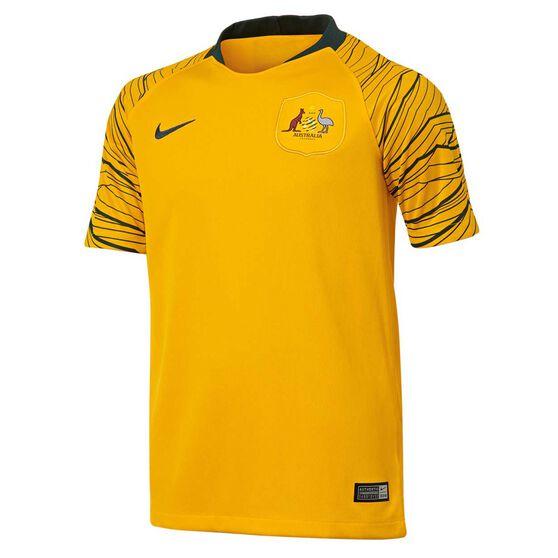 Socceroos 2018 Kids Home Football Jersey XL, , rebel_hi-res