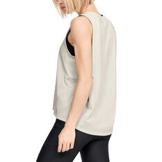 Under Armour Womens Project Rock Bull Tank, White, rebel_hi-res