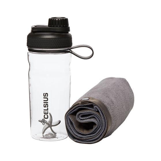 Celsius Microfiber Towel and Shaker 600ml, , rebel_hi-res