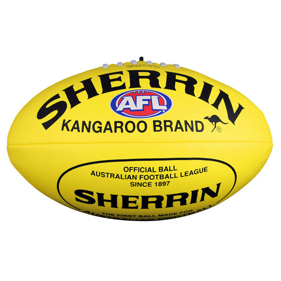 Sherrin Soft Touch Youth Australian Rules Ball Yellow 10in, Yellow, rebel_hi-res