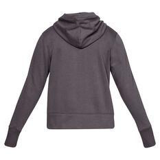 Under Armour Womens UA Rival Fleece Logo Hoodie Grey XS, Grey, rebel_hi-res
