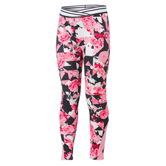 Nike Girls Tokyo Floral Leggings, Pink, rebel_hi-res