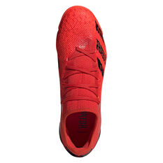 adidas Predator Freak .3 Low Touch and Turf Football Boots, Red/Black, rebel_hi-res