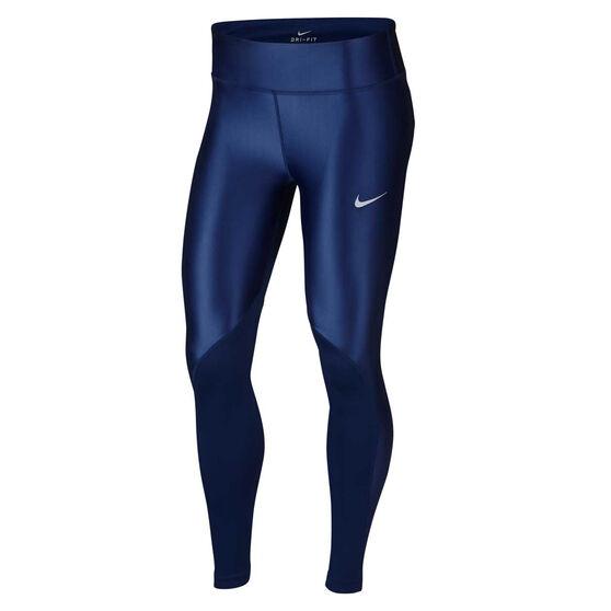 Nike Womens Fast Running Tights Blue XS, Blue, rebel_hi-res