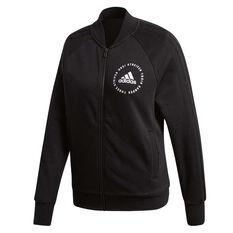 adidas Womens Sport ID Bomber Jacket Black XS, Black, rebel_hi-res