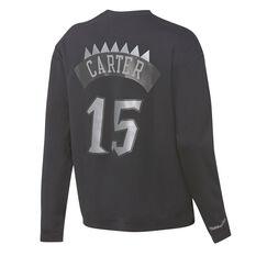 Mitchell & Ness Mens Toronto Raptors Vince Carter Name & Number Sweatshirt Black S, Black, rebel_hi-res