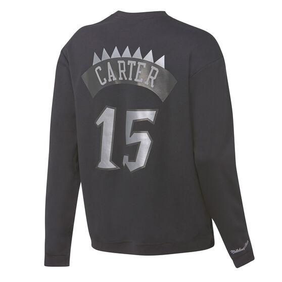 Mitchell & Ness Mens Toronto Raptors Vince Carter Name & Number Sweatshirt, Black, rebel_hi-res