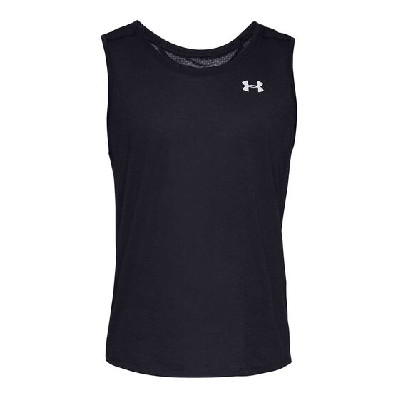 Under Armour Mens Streaker 2 Running Tank, Black, rebel_hi-res
