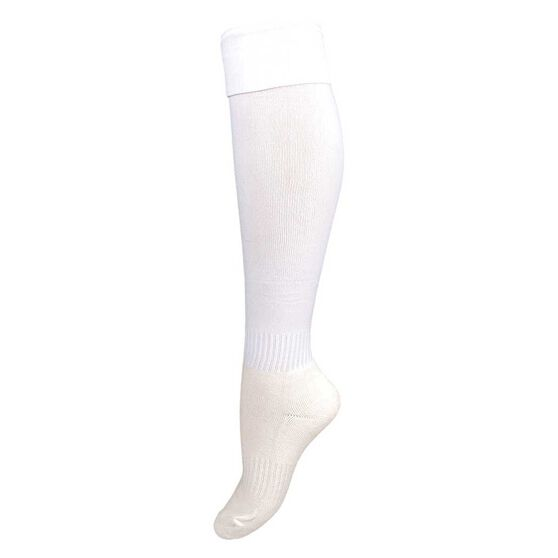 Burley  Kids Football Socks, White, rebel_hi-res