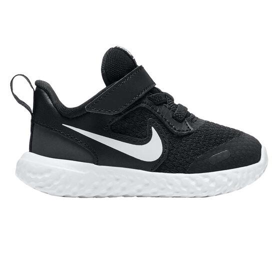 Nike Revolution 5 Toddlers Shoes Black/White US 4, Black/White, rebel_hi-res
