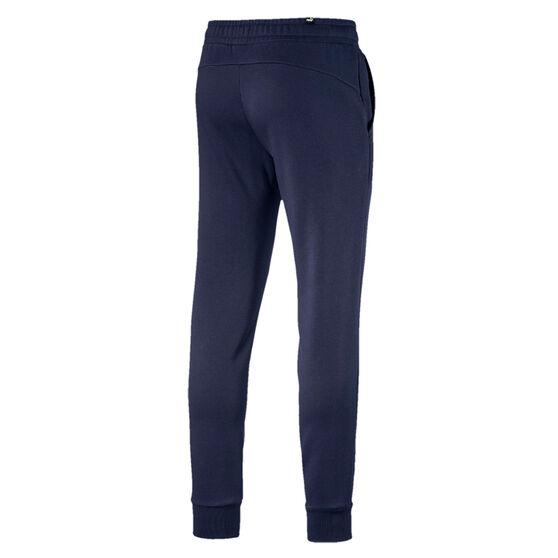 Puma Essentials Mens Logo Fleece Track Pants, Navy, rebel_hi-res