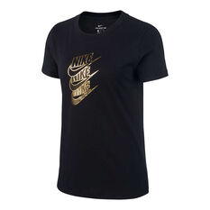 Nike Womens Sportswear Statement Tee Black XS, Black, rebel_hi-res