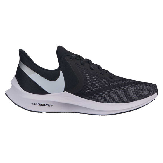 Nike Air Zoom Winflo 6 Womens Running Shoes, Black / White, rebel_hi-res