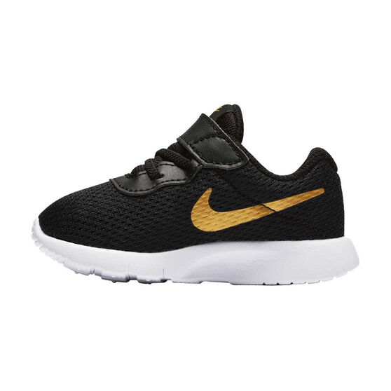 Nike Tanjun Toddlers Shoes, Black / Gold, rebel_hi-res