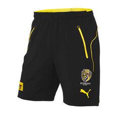 Richmond Tigers 2019 Mens Travel Shorts Brown / Yellow S, Brown / Yellow, rebel_hi-res