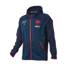 Sydney Roosters 2019 Mens Tech Pro Hoodie Blue / Red S, Blue / Red, rebel_hi-res