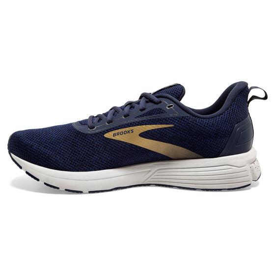 Brooks Anthem 3 Mens Running Shoes, Navy/Grey, rebel_hi-res