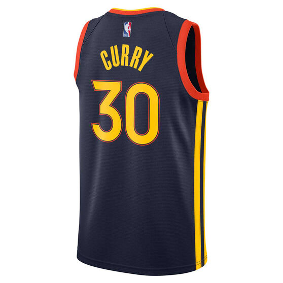 Nike Golden State Warriors Steph Curry 2020/21 Mens City Swingman Jersey Navy XXL, Navy, rebel_hi-res