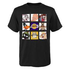 Space Jam: A New Legacy x Los Angeles Lakers Tune Zoom Kids Tee Black S, Black, rebel_hi-res
