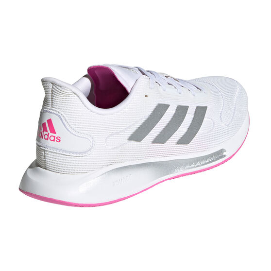 adidas Galaxar Run Womens Running Shoes, White/Silver, rebel_hi-res