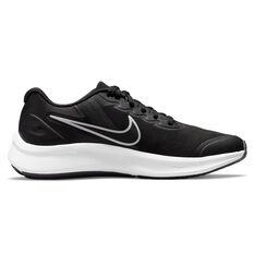 Nike Star Runner 3 Kids Running Shoes Black/Grey US 4, Black/Grey, rebel_hi-res