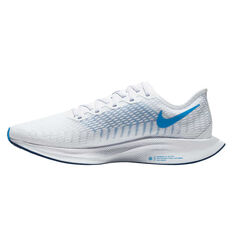 Nike Zoom Pegasus Turbo 2 Mens Running Shoes White/Blue US 7, White/Blue, rebel_hi-res