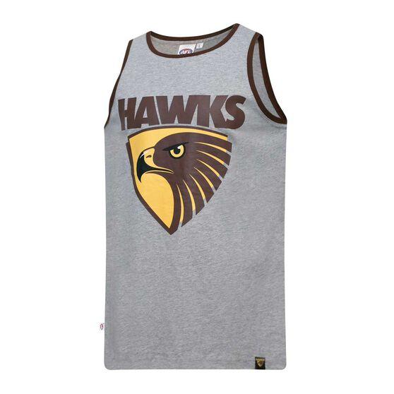 Hawthorn Hawks Mens Cotton Tank Singlet, , rebel_hi-res