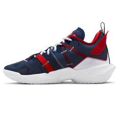 Jordan Why Not Zer0.4 Basketball Shoes Blue US 7, Blue, rebel_hi-res