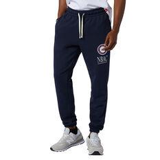 New Balance Mens Essentials Athletic Club Fleece Pants Navy XS, Navy, rebel_hi-res