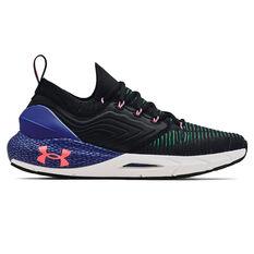 Under Armour HOVR Phantom 2 Mens Running Shoes Black/Blue US 7, Black/Blue, rebel_hi-res