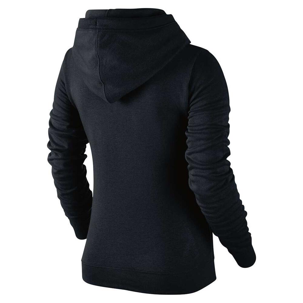 cc6a0bea08ba Nike Womens Funnel Neck Hoodie Black   White XS Adult