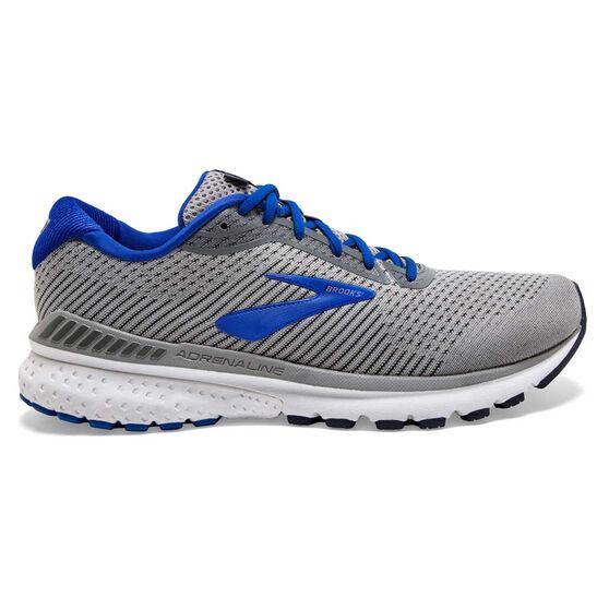 Brooks Adrenaline GTS 20 2E Mens Running Shoes, Grey / Blue, rebel_hi-res