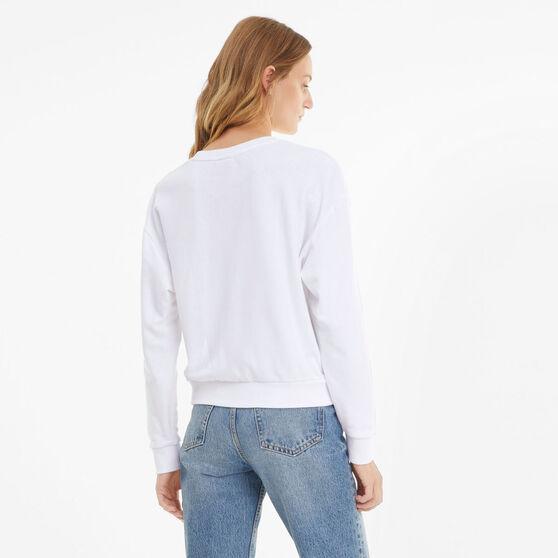 Puma Womens Modern Basics Sweater, White, rebel_hi-res