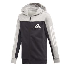 a7eed54c2 adidas Boys Sport ID Full-Zip Hoodie Grey / Black 6, ...