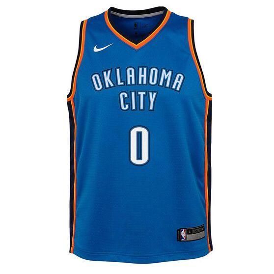 Nike Oklahoma City Thunder Russell Westbrook 2019 Kids Swingman Jersey, Signal Blue, rebel_hi-res