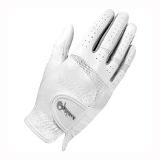 Optima XTD All Weather Ladies Golf Glove White / Silver S, White / Silver, rebel_hi-res