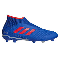 adidas Predator 19.3 Laceless Mens Football Boots Blue / Red US Mens 7 / Womens 8, Blue / Red, rebel_hi-res