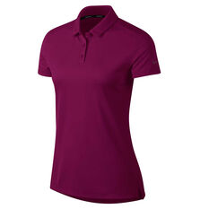 Nike Womens Dry Golf Polo Berry XS, Berry, rebel_hi-res