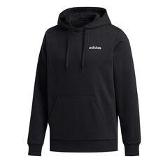 adidas Mens Essentials Feelcozy Fleece Hoodie Black M, Black, rebel_hi-res
